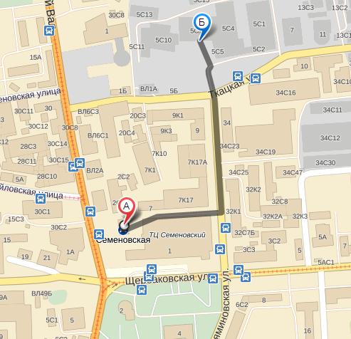 С 6 мая 2013 года мы переехали в новый офис рядом с метро Семеновская (недалеко от старого) по адресу ул...